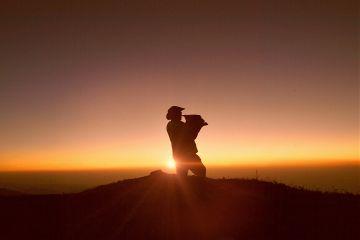 people sunset music nature sky
