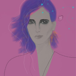 drawing pink digital portrait myart