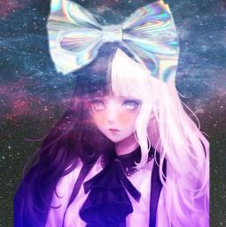 freetoedit galaxyhair galaxy collage cute