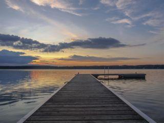 sunset scharmützelsee lake scharm
