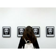 anonymous guyfawkesmask mask artgallery girl freetoedit