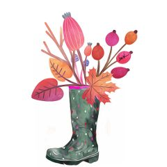 rubberboots autumncolors autumnvibes oilpantingeffect autumndays