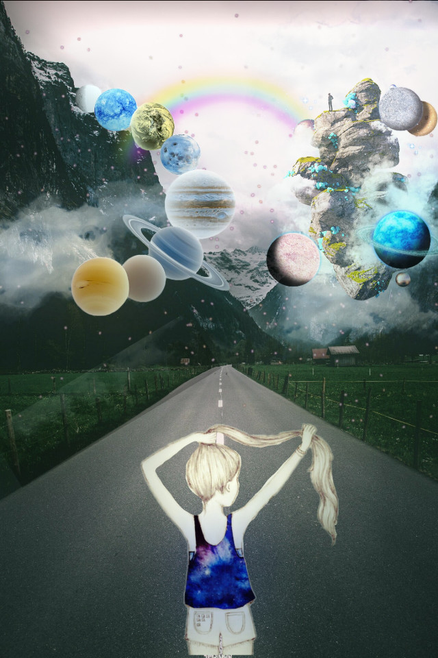 #space #planet #galaxy #galaxygirl