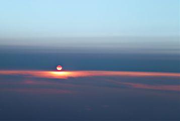 sunset clouds skies airplane
