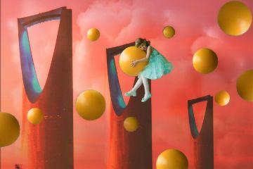 building girl balloon surreal surrealist freetoedit