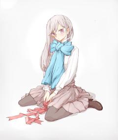 animegirl alone emotions digitalart serious