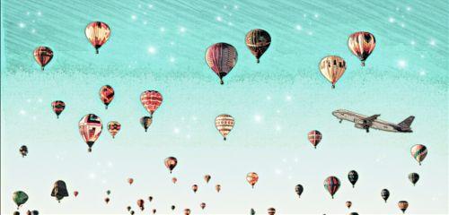 freetoedit hotairballoons plan lovepicsart sky