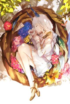 animegirl alone emotions colorful digitalart