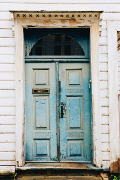 door blue town wood rustic freetoedit