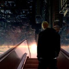 freetoedit upsidedownworld surreal escalator urban