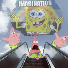 escalatorremix freetoedit spongebob