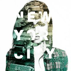 portrait girl doubleexposure city newyork freetoedit