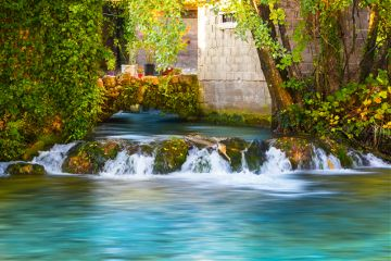 river waterfall vibrant flow nature