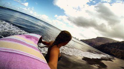 girl beach sand photography emotions
