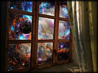 night galaxy planet eye stars freetoedit