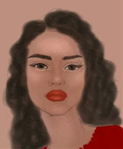 portrait face drawing painting digitalart