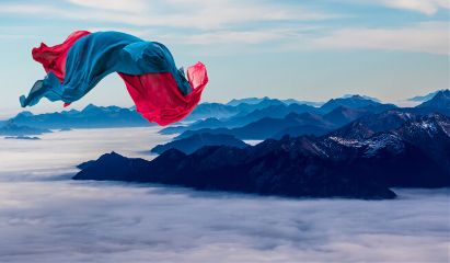 freetoedit scarf flying wind mountains