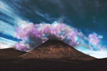edit remix graphic fantasie clouds mountain