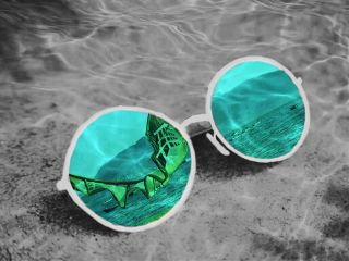 sea glasses underwater freetoedit