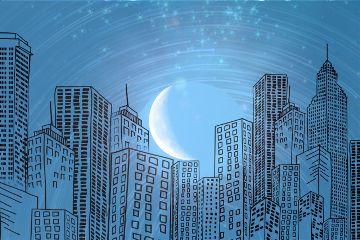 freetoedit moonremix cityscape sparkle shapemask