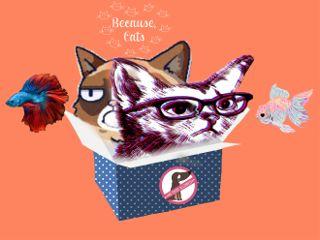 freetoedit emptybox cats fish cat