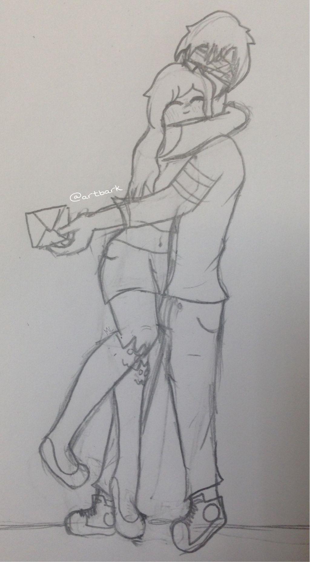 Aarmau aphmau aaron hugs hug quicksketch sketch