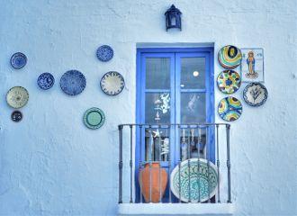 malaga andalucia frigiliana azul spain