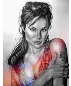 actress angelina sexywoman freetoedit