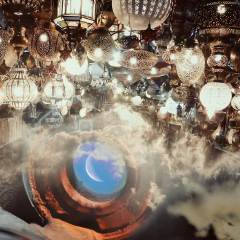 moonremix dailyremixchallenge fantasy doubleexposure lights freetoedit