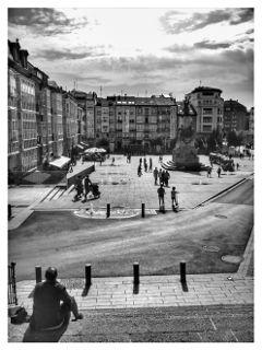 blackandwhite square vitoria euskadi