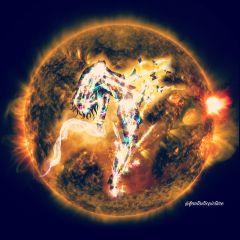 fire explosion firegirl planet lightning
