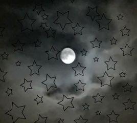 freetoedit moon stars night interesting