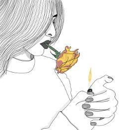 fire rose smoke tumblr digitalart freetoedit