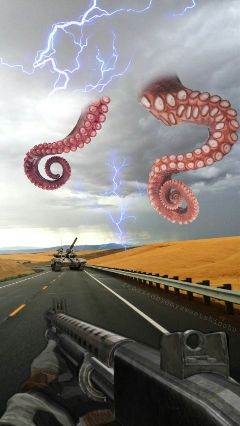 vipshoutout tentacles tank barrel road freetoedit