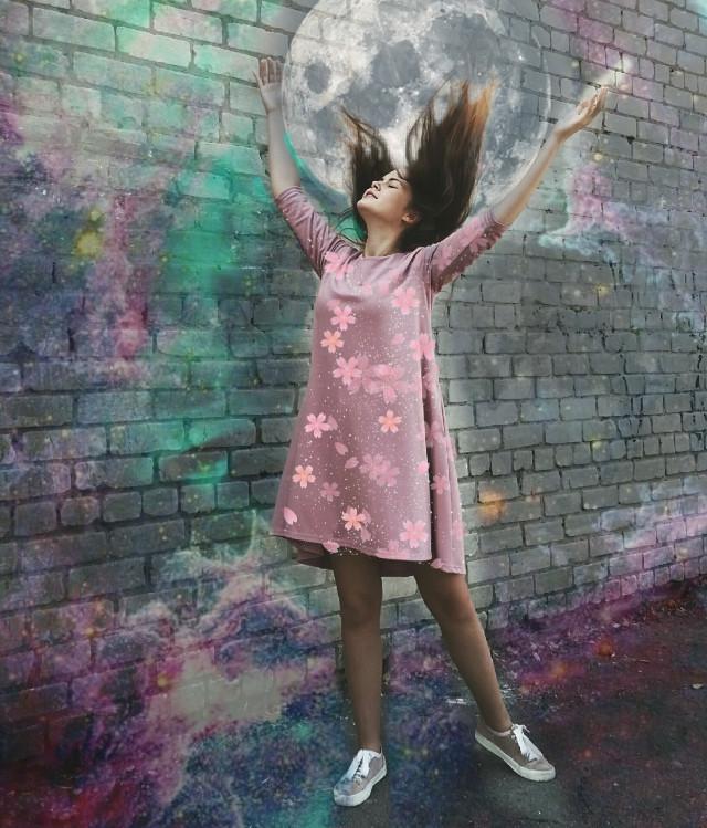 #galaxy #space #moon #moonspace #girl #galaxygirl