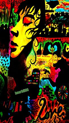 freetoedit psychedelic colorful colorpaint photography