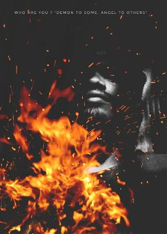 flames light fire face night freetoedit
