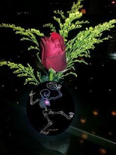 remixed romantic skeleton red rose