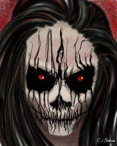 ghost joker girl skull portrait wdpghosts