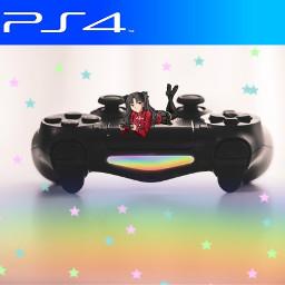 freetoedit playstation gamer rainbow ps4