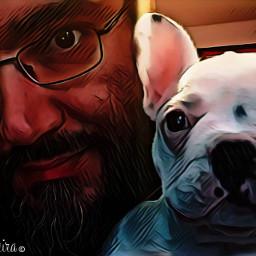 meandmydog cartoonart madewithpicsart friendforlife humansbestfriend