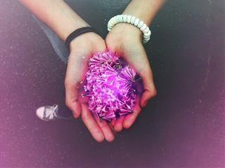 flowers purple neon violet plant freetoedit