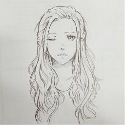 freetoedit anime animegirl sketch sketchbook