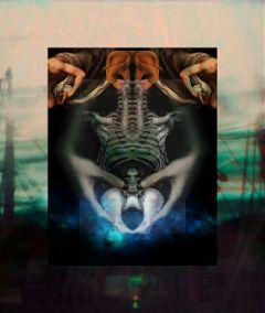 darkart photography negative bones hands