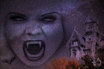 meteorshower vampire halloween dark scary freetoedit