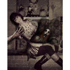 freetoedit closeup haunted halloween photomanipulation