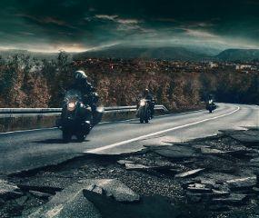 road motorcycles apocalypse apocalyptic traveling