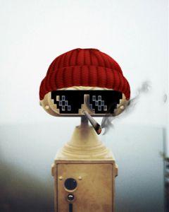 freetoedit binocularremix badass robot mybeanie