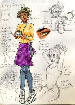 bornhollow2k17 sketch inking myart oc