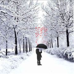 freetoedit snowyday hearts littlegirl umbrella